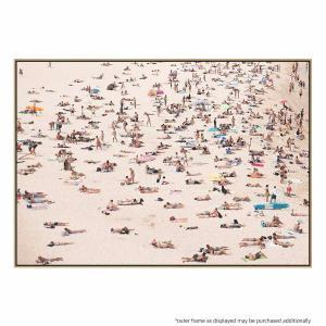 Crowded Beach - Canvas Print