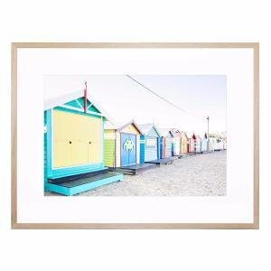 Beach Hut - Framed Print