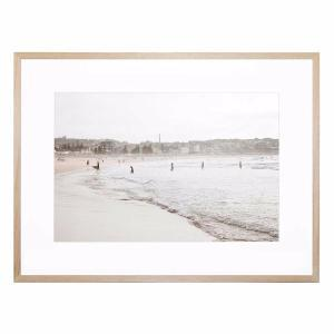 High Tide Beach - Framed Print