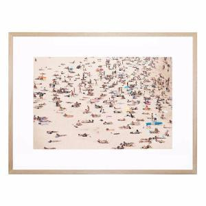 Crowded Beach - Framed Print