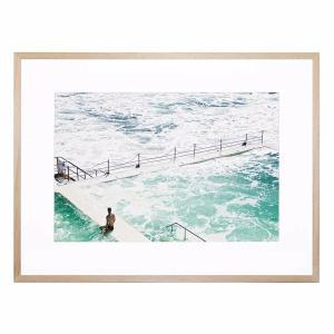 Lone Swimmers Beach - Framed Print