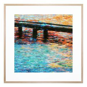 M Jetty - Framed Print