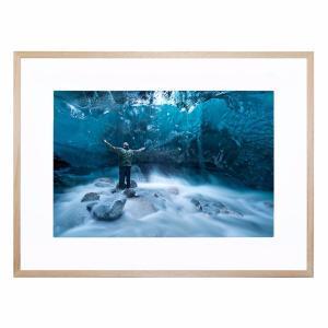 Self Portrait Under a Glacier - Framed Print