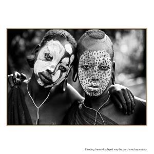 Painted Faces - Canvas Print