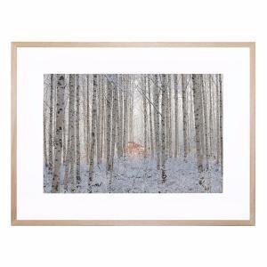 Ends in White - Framed Print